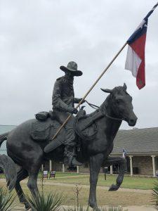 Statue outside the Texas Ranger Museum