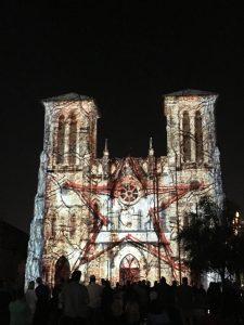 Laser show in Texas