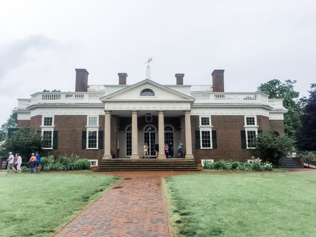 Front of Thomas Jefferson's Monticello