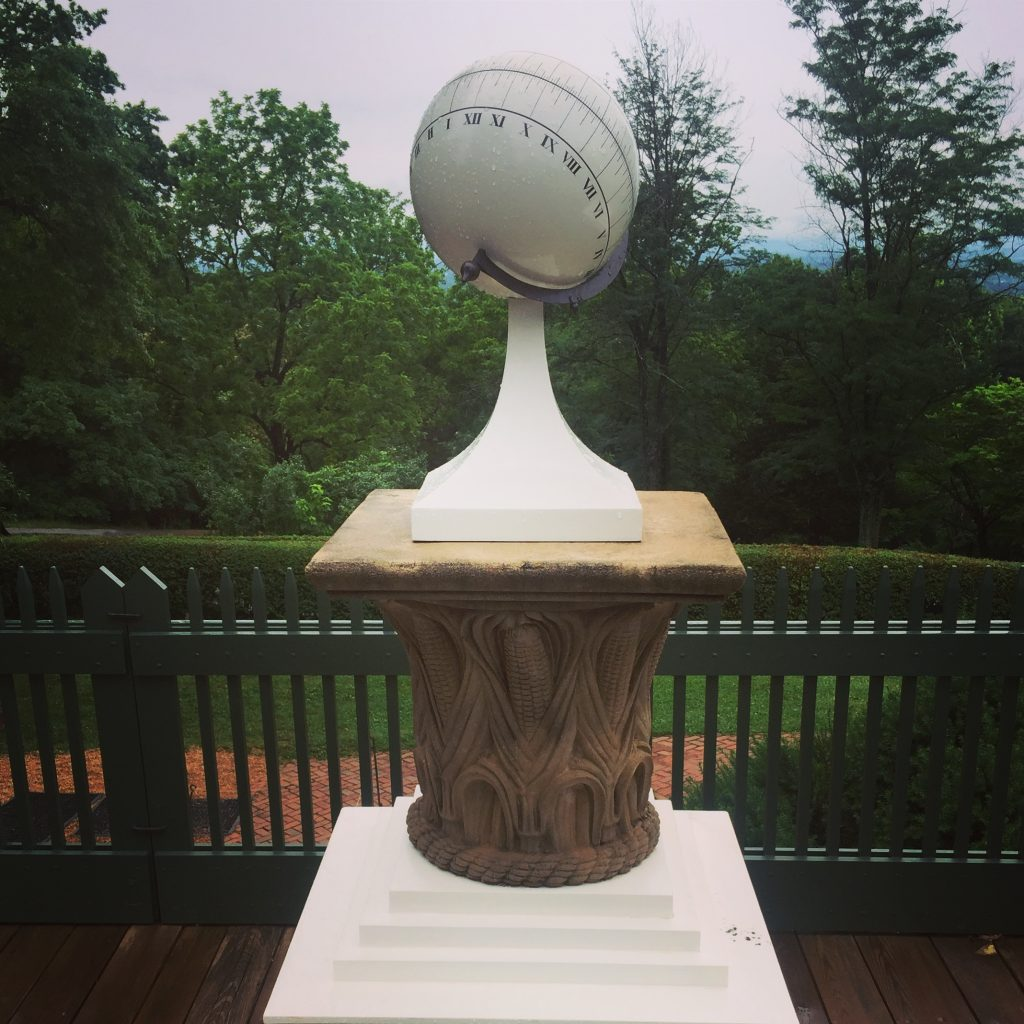 Reproduction of Thomas Jefferson's spherical sundial
