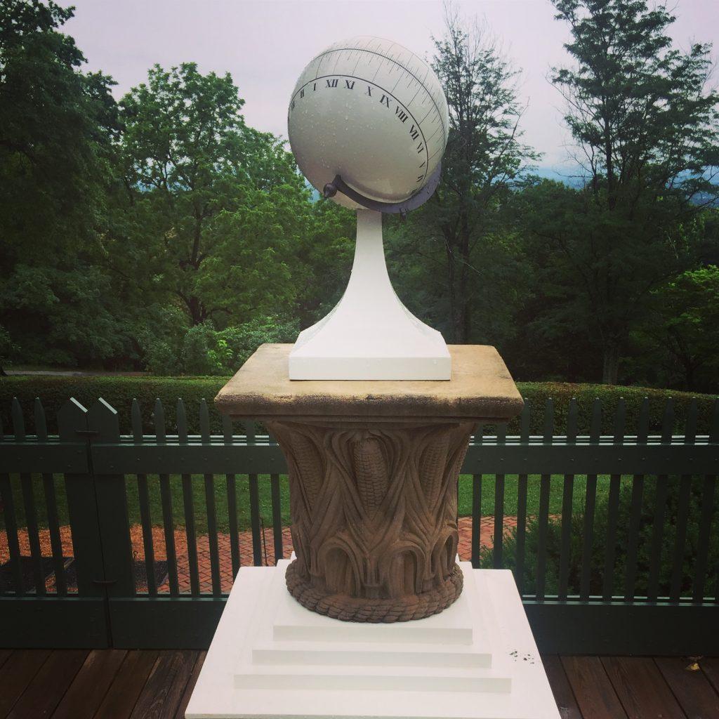 Reproduction of Thomas Jefferson's spherical sundial