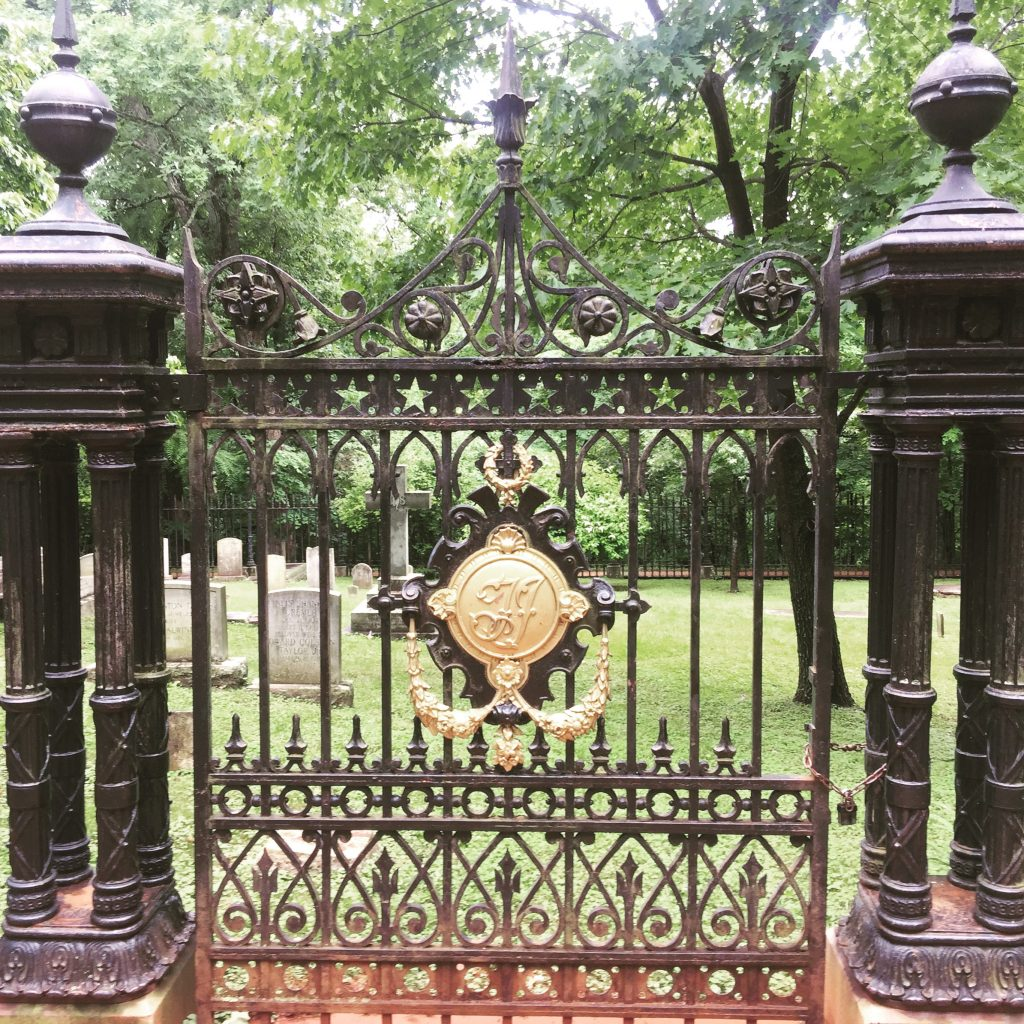 Gate to the Jefferson cemetery