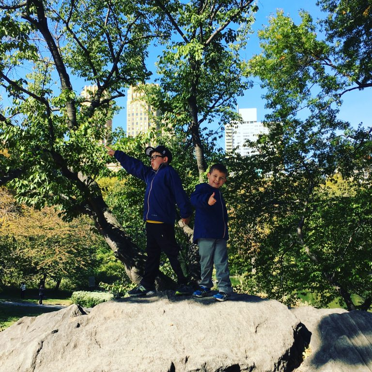 Having fun in Central Park