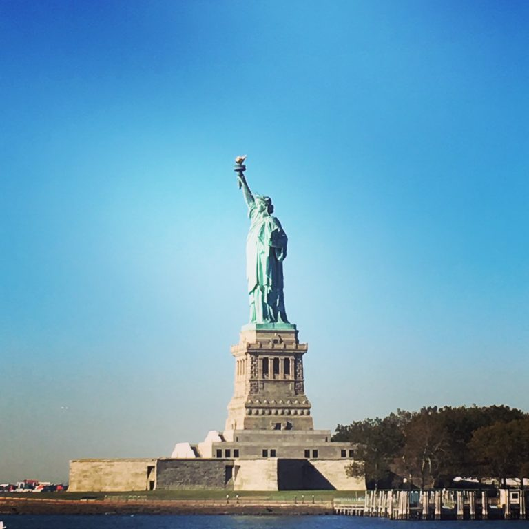 Statue of Liberty on a gorgeous day