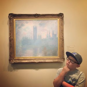 Zach contemplating Monet