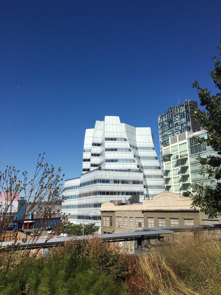 Walking along the High Line