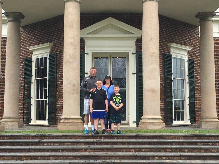 On the back porch of Thomas Jefferson'sMonticello