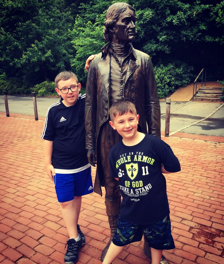 Hanging with Thomas Jefferson before the tour