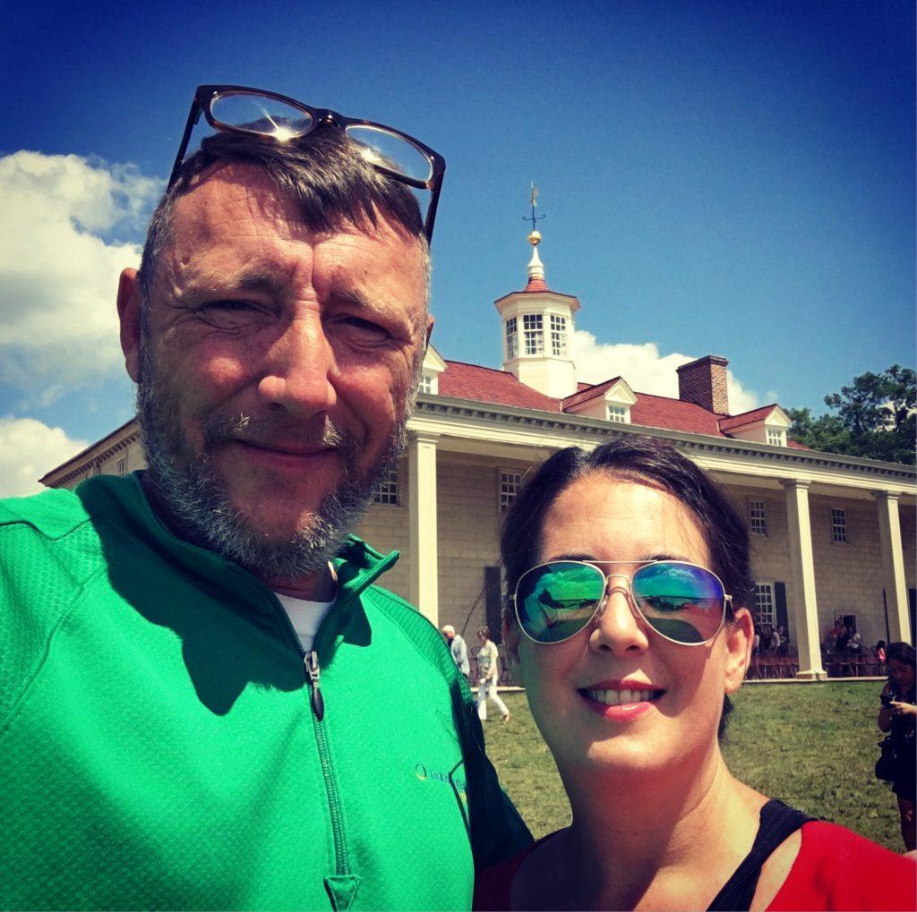 Couple selfie at Mount Vernon
