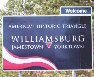 Colonial Williamsburg Sign
