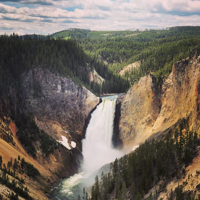 Grand Canyon of Yellowstone National Park in Wyoming