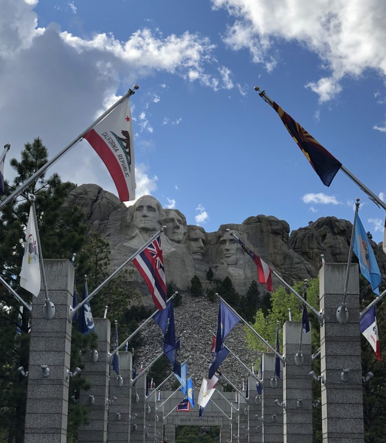avenue of flags at Mount Rushmore