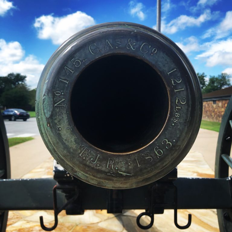 Close up of pea ridge national military park cannon