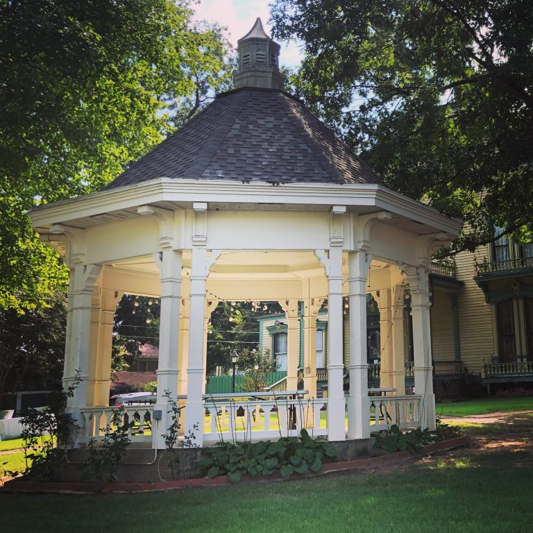 gazebo beside victorian house