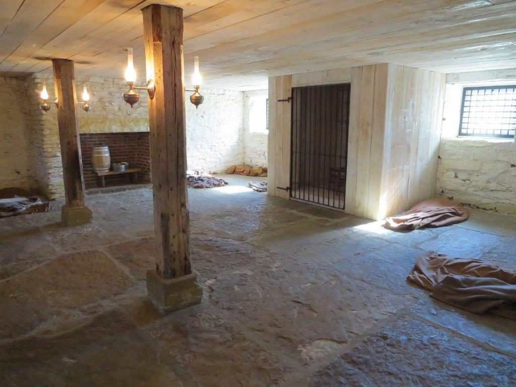 inside the jail of fort smith historic site