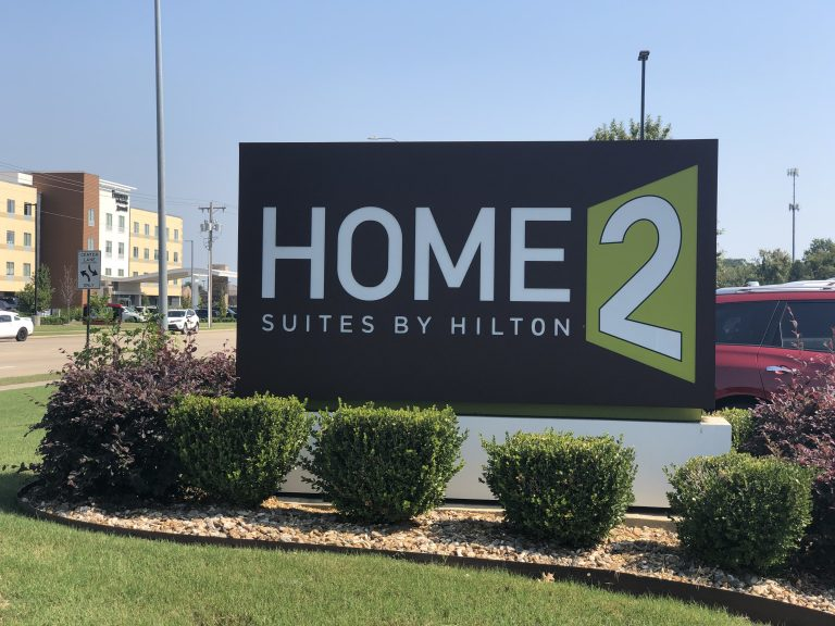 Home2Suites by Hilton hotel sign