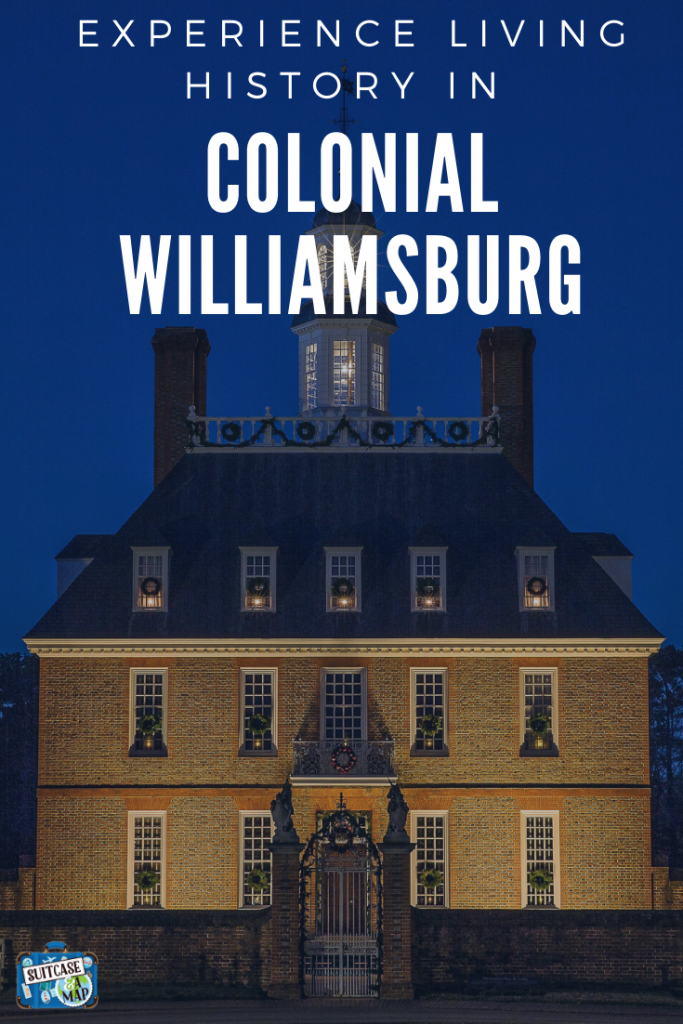 History comes to alive in Colonial Williamsburg, and you get to be a part of it! We've included tips, hints and suggestions to make sure you and your family experience everything Williamsburg has to offer! #colonialwilliamsburg #virginia #travelwithkids #familytravel #historictriangle