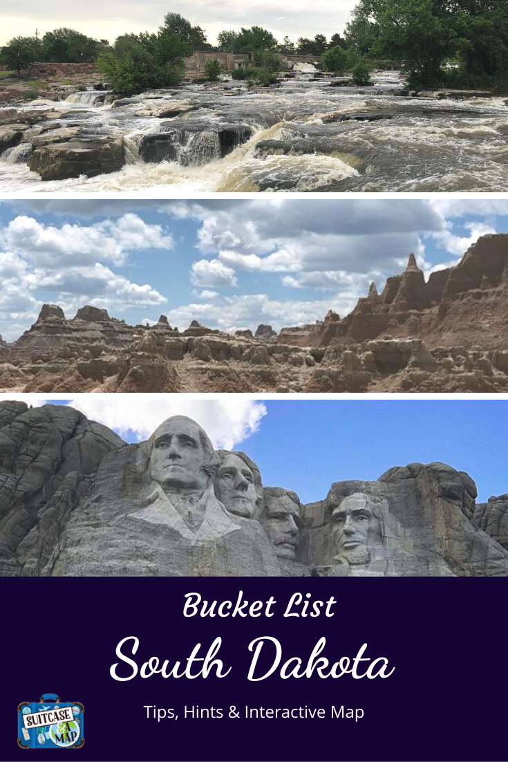 mount rushmore, badlands national park and waterfalls