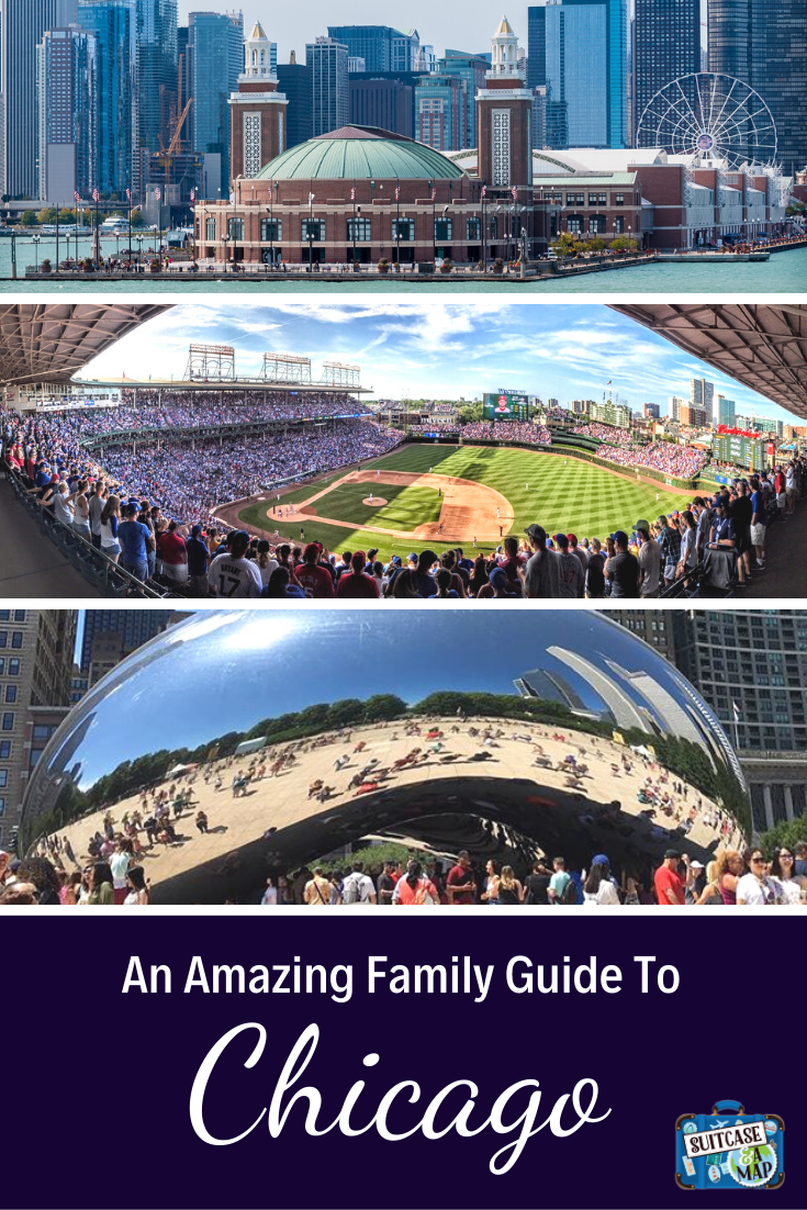 wrigley field, navy pier and cloud gate in Chicago