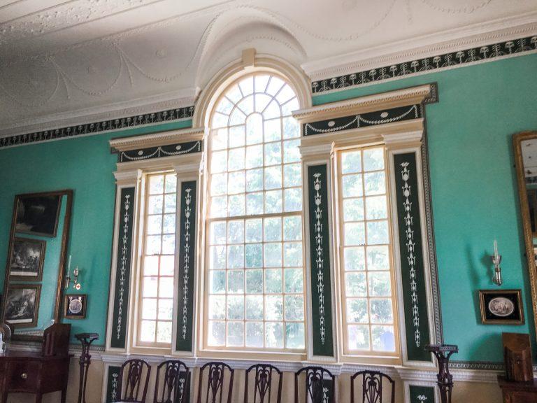 Large window inside Mount Vernon