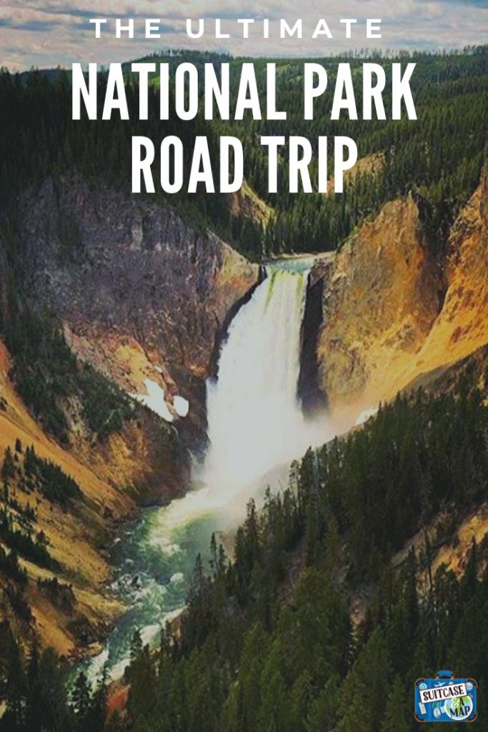 waterfall at yellowstone national park