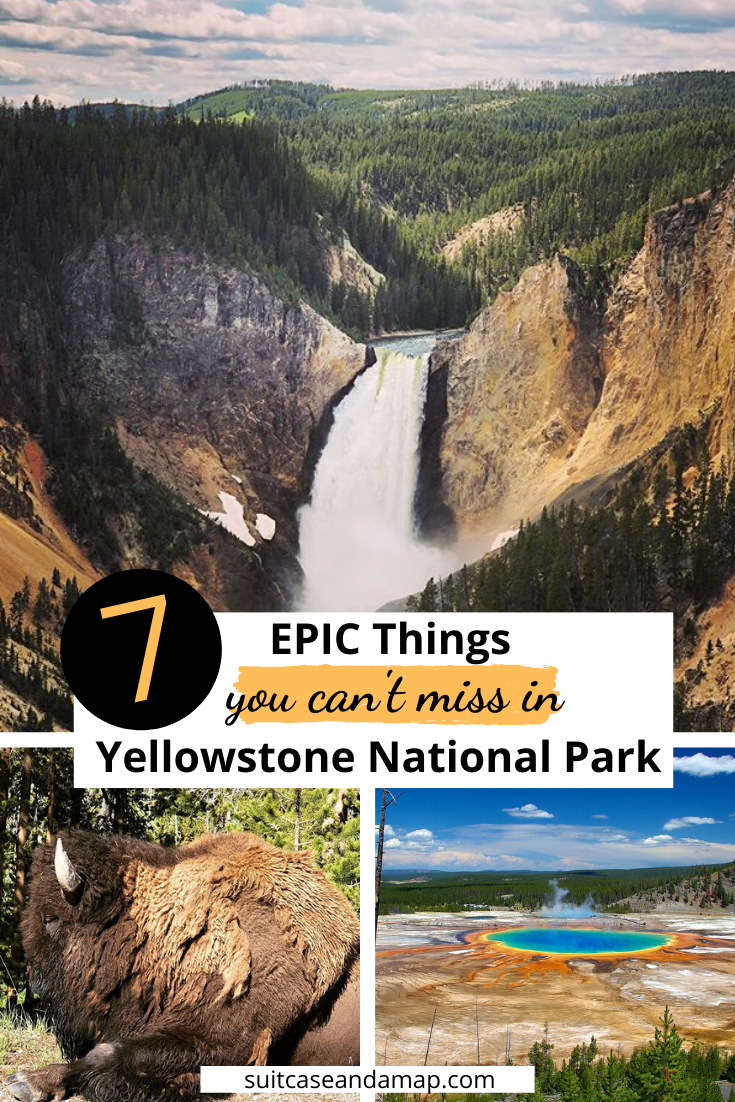 Yellowstone is a magical place! Our list will help make sure you get to see everything Yellowstone has to offer! Includes a detailed list, tips, hints and an interactive map #grandcanyonofyellowstone #nps #yellowstonewithkids #wyoming