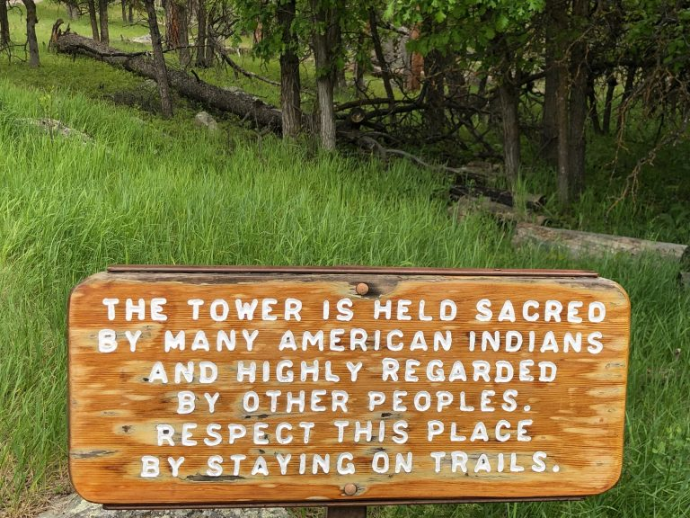 sacred site sign