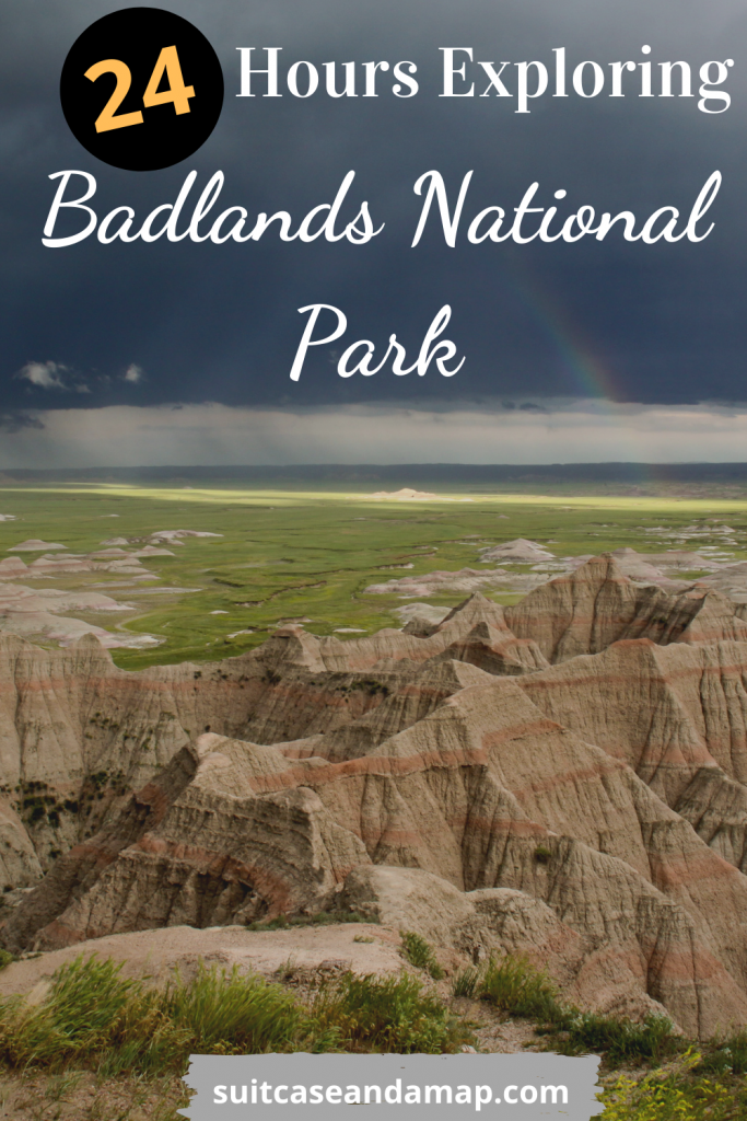 If you only have one day to spend in Badlands National Park you want to make the most of your time. Our guide will ensure you don't miss a single thing while visiting this magical National Park! Includes interactive map, tips and hints! #nationalpark #southdakota #badlands