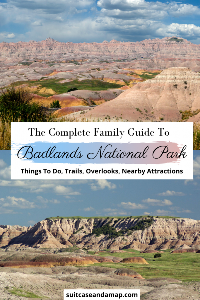 Are you ready to visit Badlands National Park? We've created a great family guide to visiting the Badlands. Things to do in Badlands National Park, visiting Badlands with kids, overlooks, family friendly trails and nearby attractions. Includes interactive map & TONS of tips and hints. #badlandsnationalpark #nationalpark #familyguide #southdakota