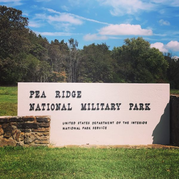 Pea Ridge National Military Park Sign